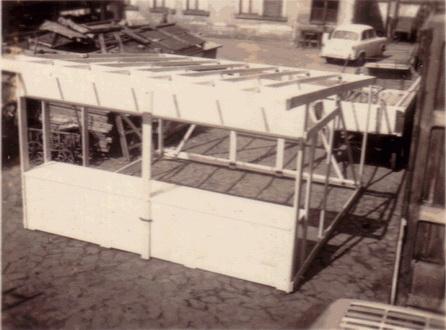 Umbau Markthütte, Weihnachtsmarkthütte, Verkaufsstand